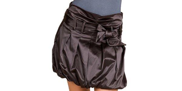 Dámska tmavo hnedá balónová sukňa Keysha