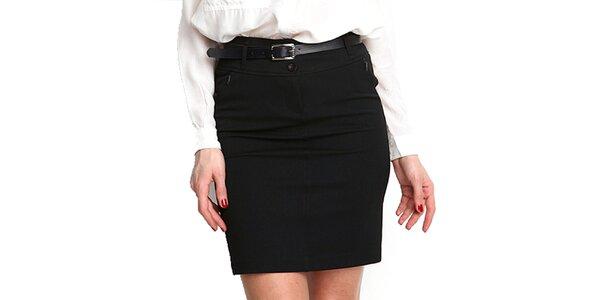 Dámska čierna púzdrová sukňa Fusion