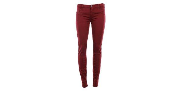 Dámske tmavo červené nohavice MET