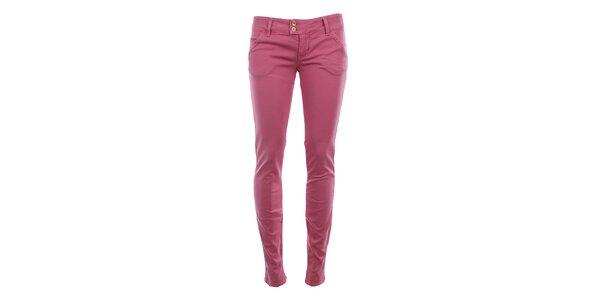 Dámske ružové chino nohavice MET