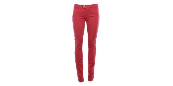 Dámske ružovočervené chino nohavice MET