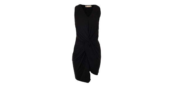 Dámske čierne šaty s tulipánovou sukňou Met