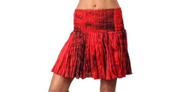 Dámska červená batikovaná sukňa Aller Simplement