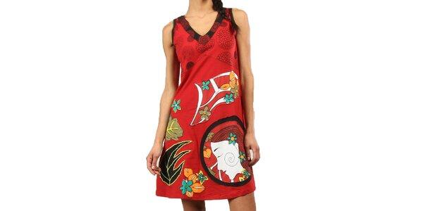 Dámske červené šaty bez rukávov Aller Simplement