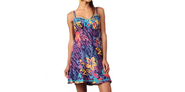 Dámske šaty s farebnou potlačou Aller Simplement