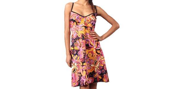 Dámske krátke farebné šaty na ramienka Aller Simplement