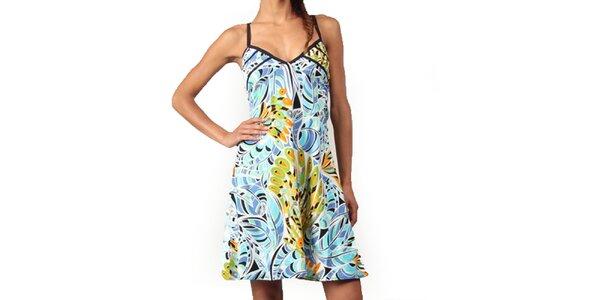 Dámske farebné šaty v tyrkysových odtieňoch Aller Simplement