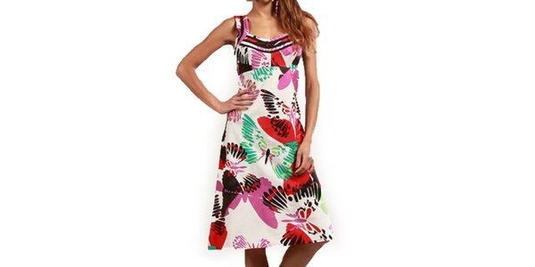 Dámske šaty s farebnými motýlikmi Aller Simplement