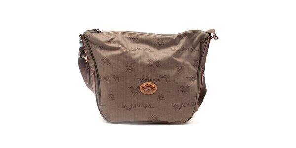 Dámska vzorovaná kabelka s popruhom La Martina
