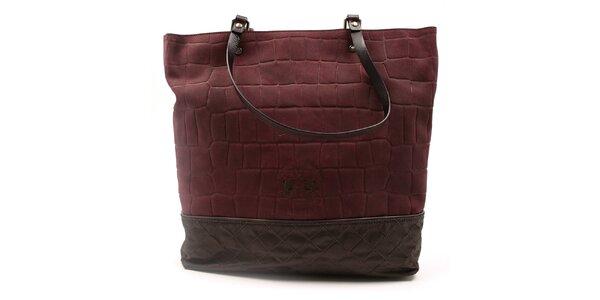 Dámska dvojfarebná kabelka s jemným vzorom La Martina