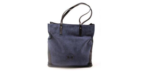 Dámska čierno-modrá kabelka La Martina