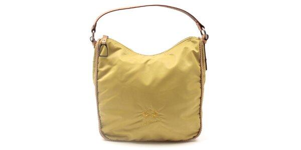 Dámska žltá kabelka so vzorovanými bokmi La Martina