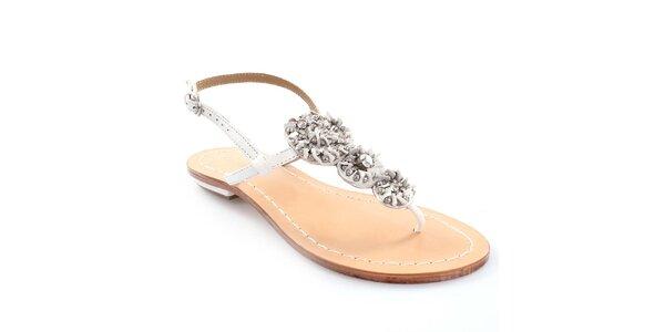Dámske kožené sandále v bílej farbe Coral Blue