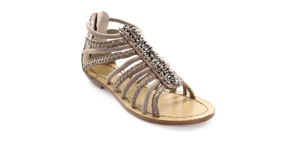 Dámske remienkové sandále z kože Coral Blue