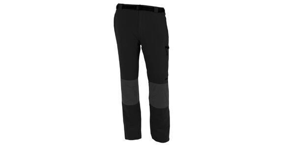 Pánske šedo-čierne vodoodpudivé nohavice Goritz