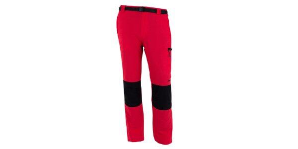 Pánske červeno-čierne vodoodpudivé nohavice Goritz