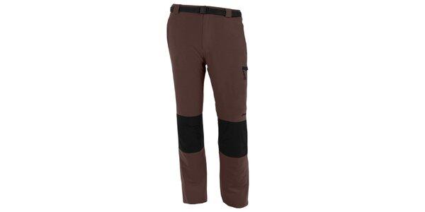 Pánske hnedo-šedé vodoodpudivé nohavice Goritz