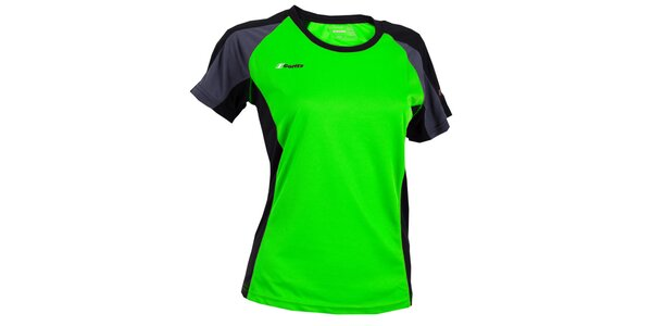 Dámske zelené tričko s šedo-čiernymi prvkami Goritz
