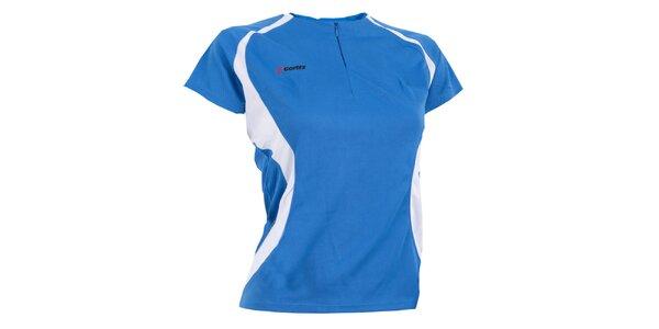 Dámske modro-biele funkčné tričko Goritz