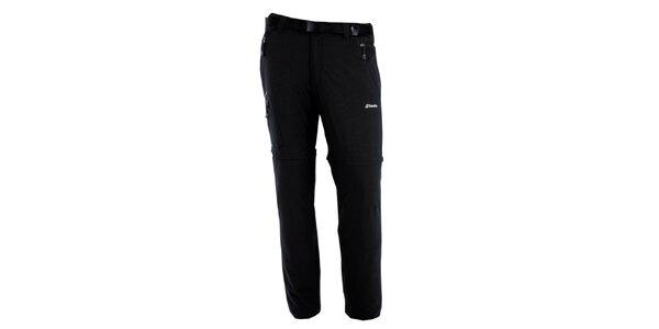 Pánske čierne nohavice s odnímateľnými nohavicami Goritz