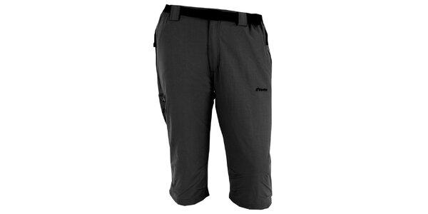 Pánske tmavo šedé trojštvrťové nohavice Goritz