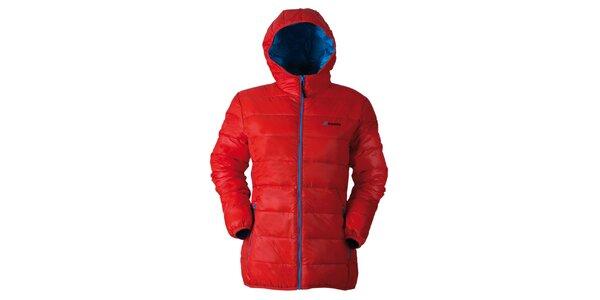 Dámska oranžová prešívaná bunda s kapucňou Goritz