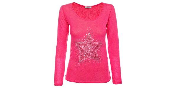 Dámsky ružový sveterík Holly Kate s kamienkami