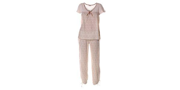 Dámsky svetlo ružový pyžamový set s mašličkou Vive Maria