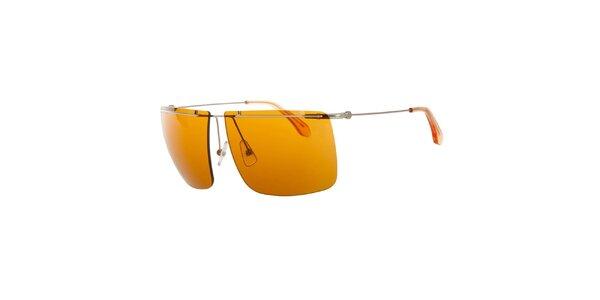 Pánske slnečné okuliare s oranžovými sklíčkami Calvin Klein