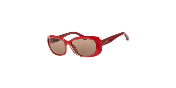 Dámske červené slnečné okuliare Calvin Klein
