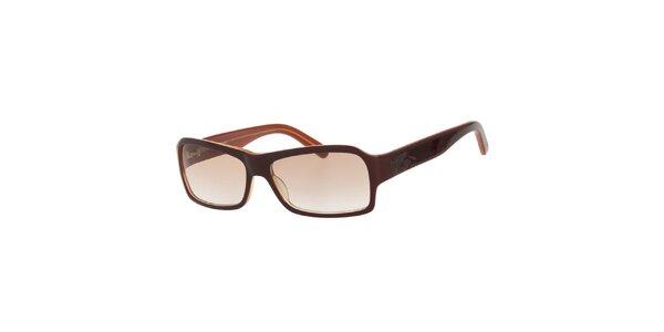 Dámske hnedé slnečné okuliare s hnedými sklami Calvin Klein