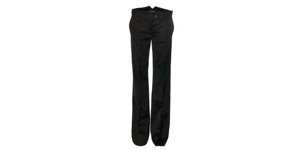 Čierne lesklé dámske nohavice Pietro Filipi
