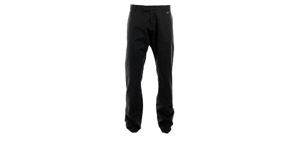 Pánske tmavo šedé nohavice s jemným vzorom Pietro Filipi