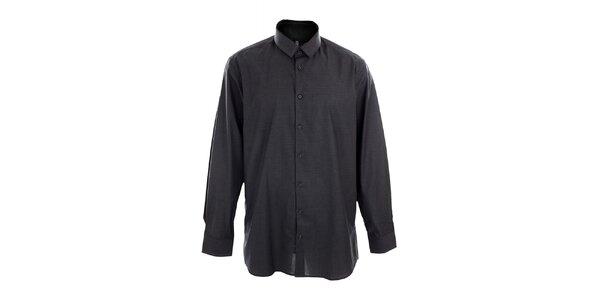 Pánska tmavo šedá obleková košeľa Pietro Filipi