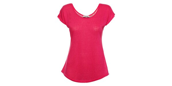 Dámske fuchsiové tričko Holly Kate s mašličkami