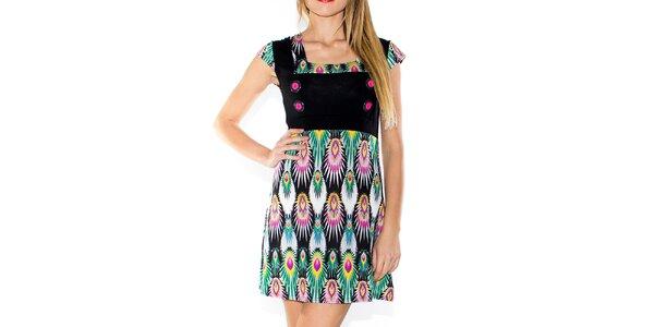 Dámske farebné šaty s gombíkmi Purple Jam