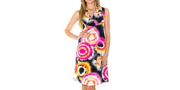 Dámske farebné šaty bez rukávov Purple Jam