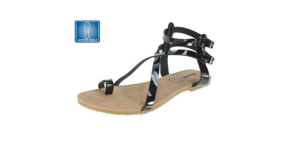 Dámske sandále s čiernymi remienkami Beppi