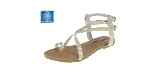 Dámske sandále s béžovými remienkami Beppi