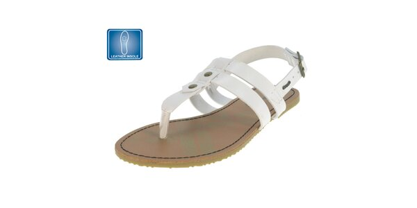 Dámske biele remienkové sandále Beppi