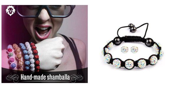 Shamballa set - náramok s náušnicami v peknom darčekovom balení