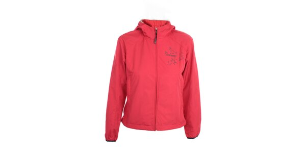 Dámska ľahká červená bunda s kapucňou Hannah