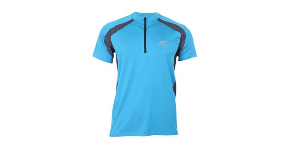 Pánske modro-čierne športové tričko so zipsom Hannah