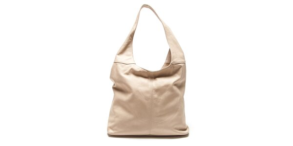 Dámska béžová kabelka s jedným uchom Roberta Minelli