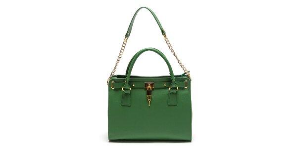 Dámska zelená kabelka s retiazkou Roberta Minelli