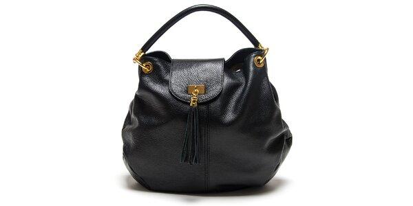 Dámska čierna kabelka so strapcom Roberta Minelli