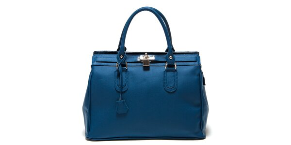 Dámska modrá kabelka so zámčekom Roberta Minelli
