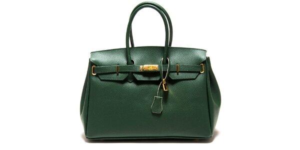 Dámska zelená kabelka so zámčekom Roberta Minelli
