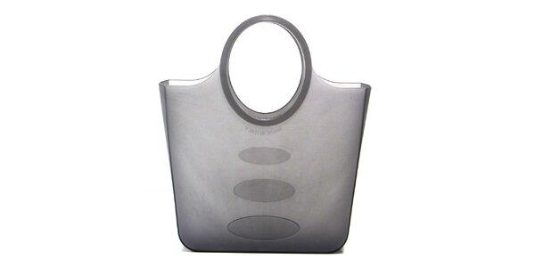 Dámska šedá polotransparentná umývateľná taška Favolla