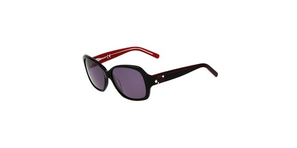 Dámske čierne hranaté plastové slnečné okuliare Miss Sixty